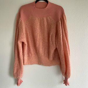 Free People Wool Coral Sweater